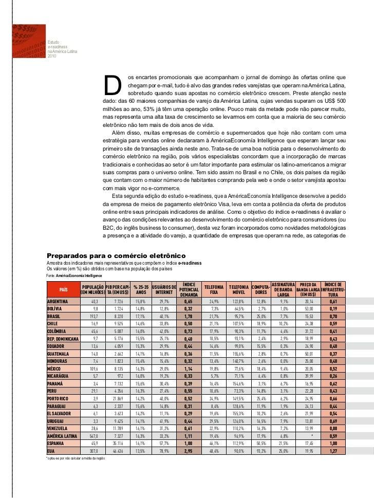 Estudio con estadisticas y estado de situacion del Comercio Electronico y los Negocios por Internet en America Latina - Parte Dos en Portugues Slide 2