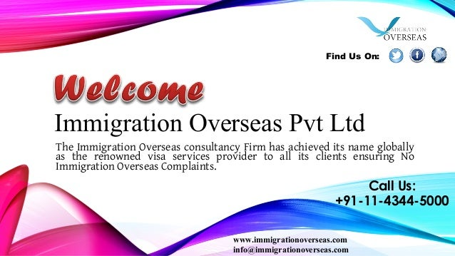 Immigration Overseas Pvt Ltd The Immigration Overseas consultancy Firm has achieved its name globally as the renowned visa...