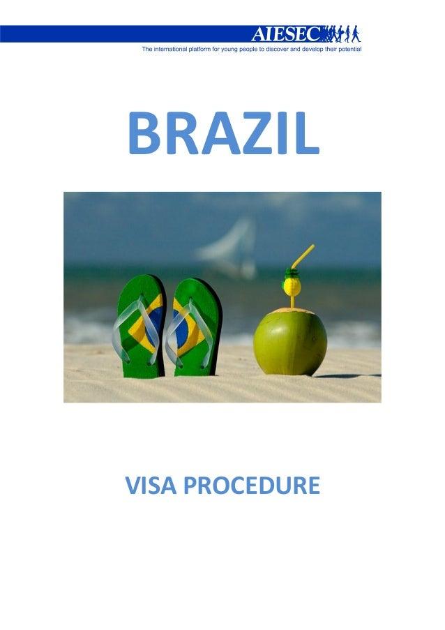 Visa booklet - AIESEC IN BRAZIL