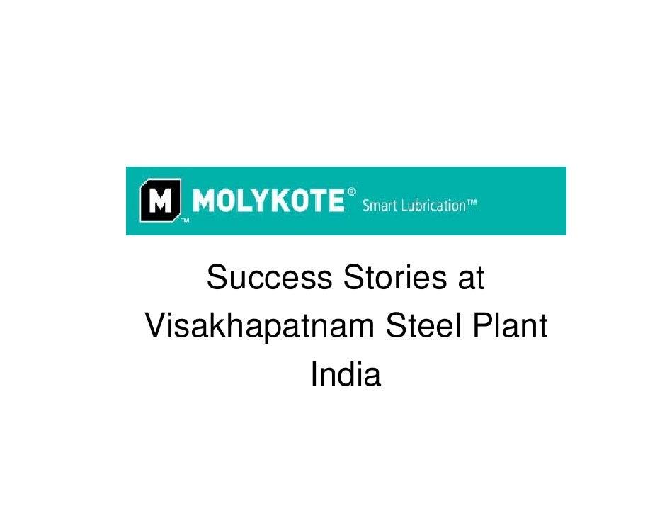 Success Stories at Visakhapatnam Steel Plant           India
