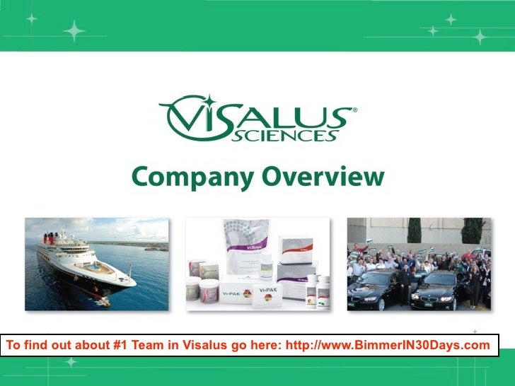 To find out about #1 Team in Visalus go here: http://www.BimmerIN30Days.com