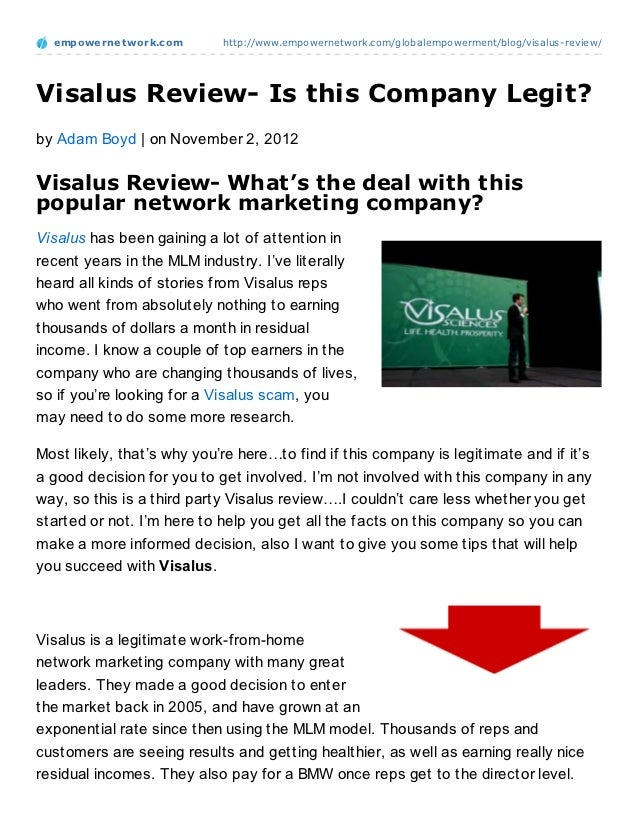 empowernet work.com       http://www.empowernetwork.com/globalempowerment/blog/visalus-review/Visalus Review- Is this Comp...