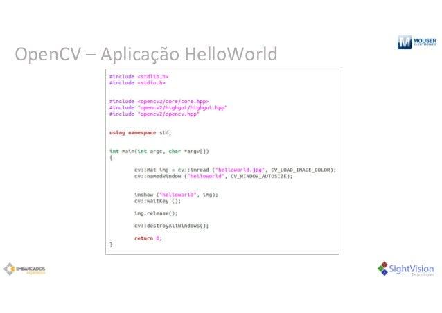 OpenCV– Aplicação HelloWorld