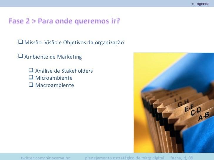 :: agenda  <ul><ul><li>Missão, Visão e Objetivos da organização </li></ul></ul><ul><ul><li>Ambiente de Marketing </li></ul...