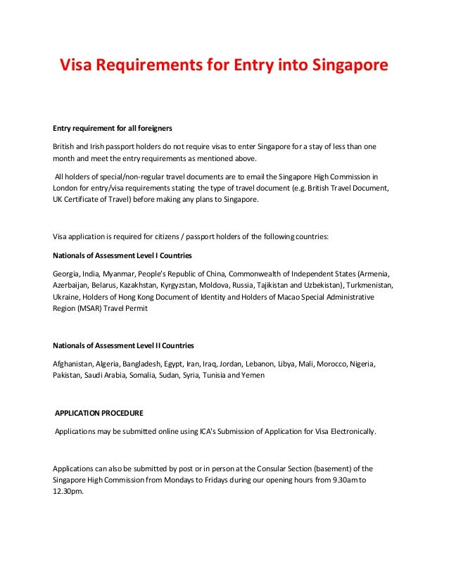 Visa requirements for entry into singapore visa requirements for entry into singapore entry requirement for all foreigners british and irish passport holders freerunsca Images