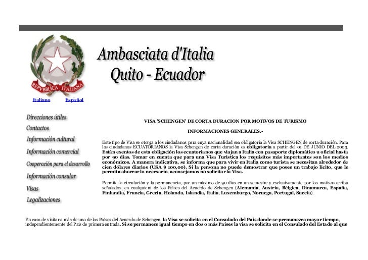 Visas italia