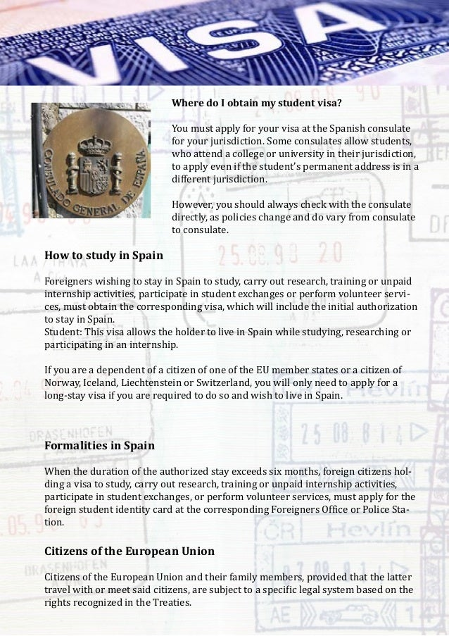Studying in Spain: Spanish student visas and permits ...