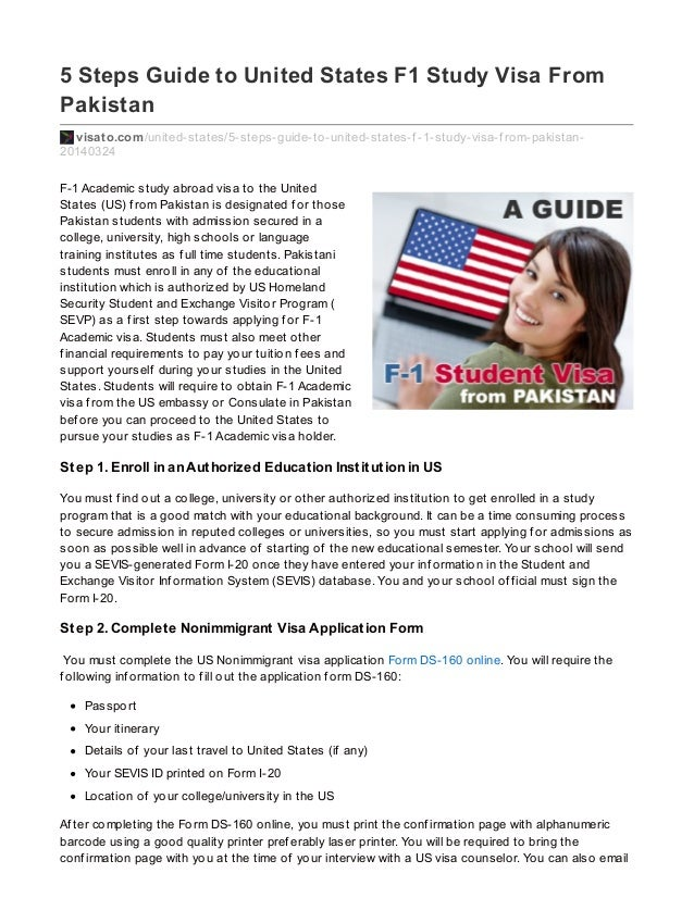 How do you fill out a student Visa application?