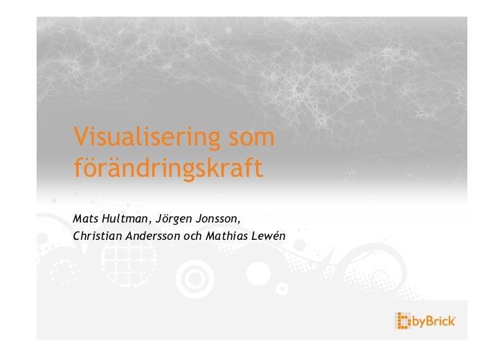 Visualisering somförändringskraftMats Hultman, Jörgen Jonsson,Christian Andersson och Mathias Lewén