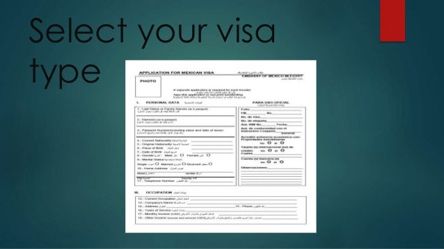Select your visa type