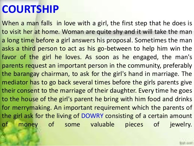 What Is Courting A Girl Mean