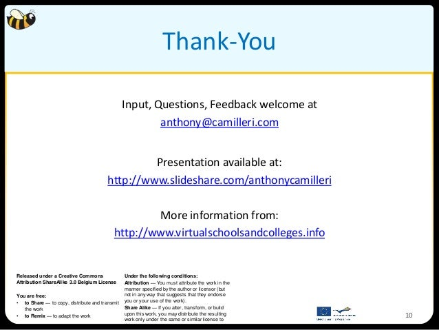 Thank-You                                                Input, Questions, Feedback welcome at                            ...