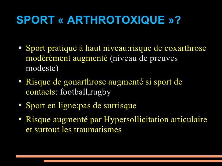 Injections d'acide hyaluronique chez le sportif Slide 2