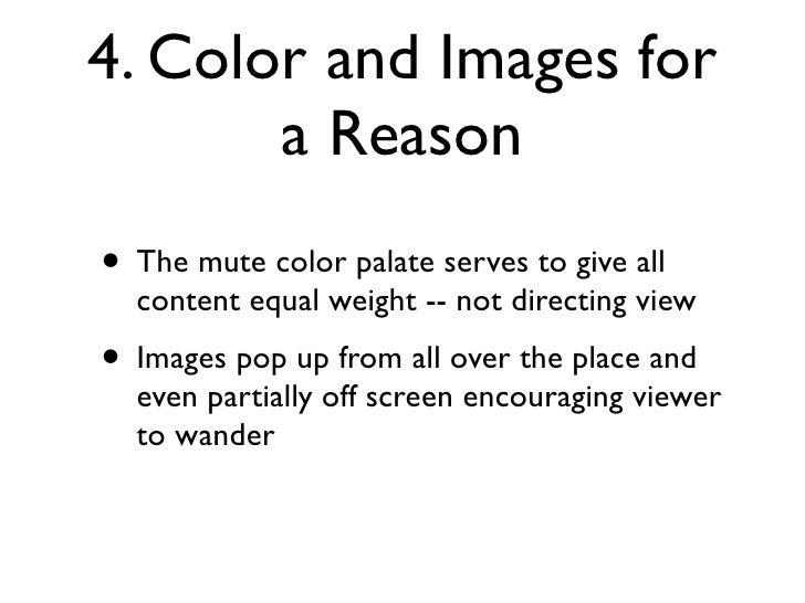 5. Make Negative Space     Part of Design  • Negative space is seriously lacking • But this serves to enhance the feeling ...