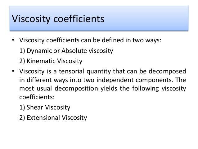 Viscosity Definition