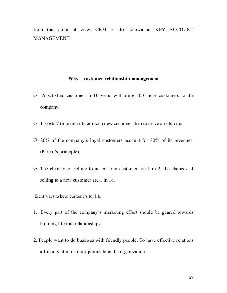 Thesis customer relationship management