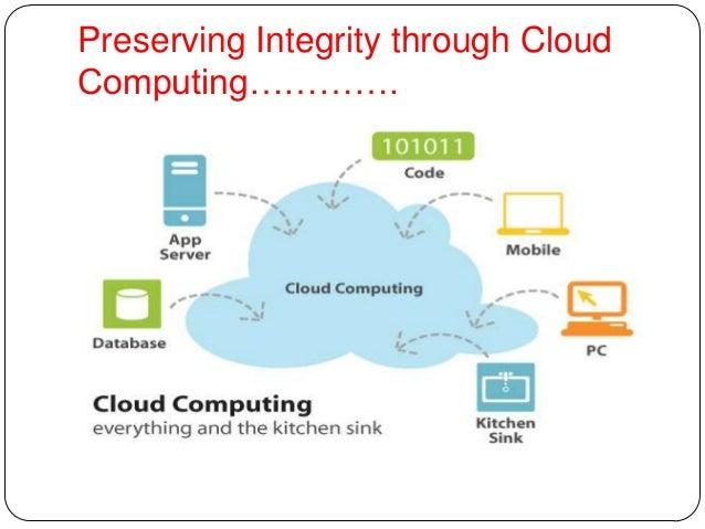 Preserving Integrity through Cloud Computing…………. ................