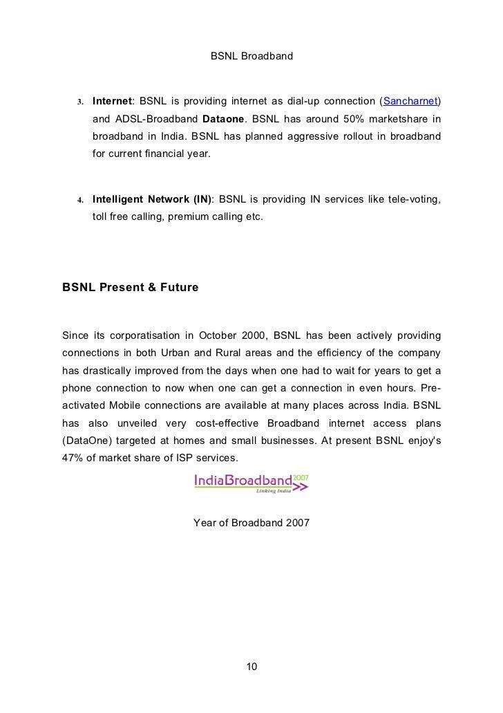 Bsnl project report bsnl broadband 3 spiritdancerdesigns Gallery