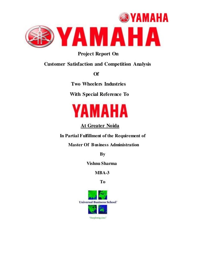 Project Report On  Customer Satisfaction and Competition Analysis  Of  Two Wheelers Industries  With Special Reference To ...