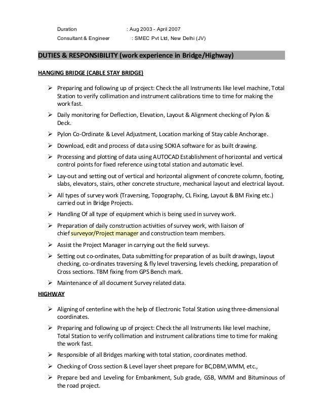 Bridge Engineer Sample Resume] Download Civil Construction Engineer ...