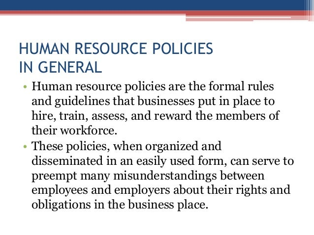 Utility Of Hr Policies For Hotel Industry