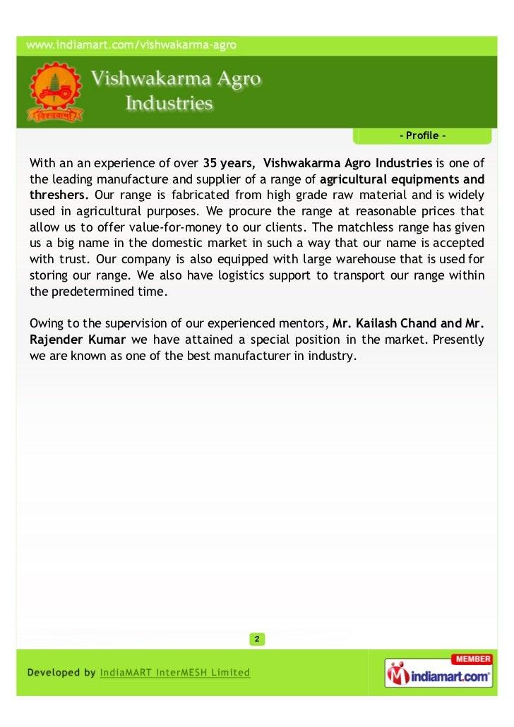 Vishwakarma Agro Industries, Jaipur, Agricultural Equipments Slide 2
