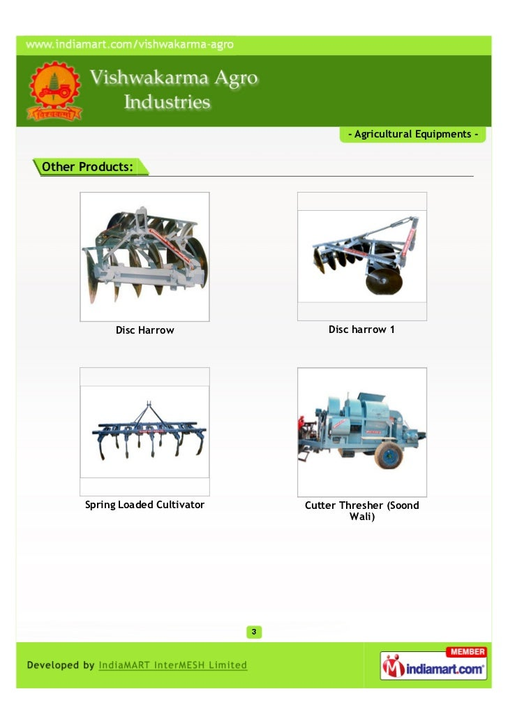 Vishwakarma Agro Industries, Jaipur, Agricultural Equipments Slide 3