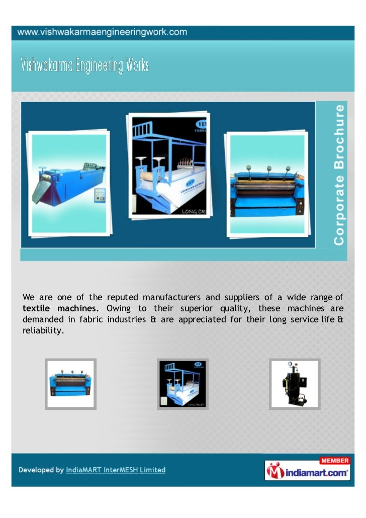 We are one of the reputed manufacturers and suppliers of a wide range oftextile machines. Owing to their superior quality,...