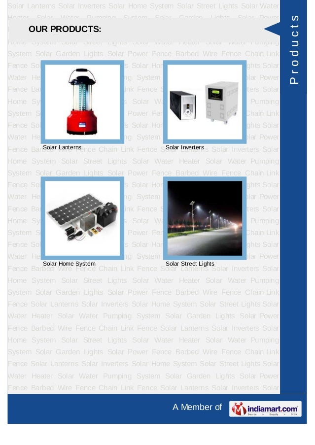 Vishwa Solar Solutions Pvt Ltd, Hyderabad, Solar Products Slide 3