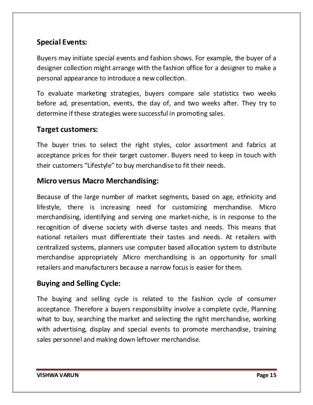 Retail Merchandising Strategy for Fashion Merchandise