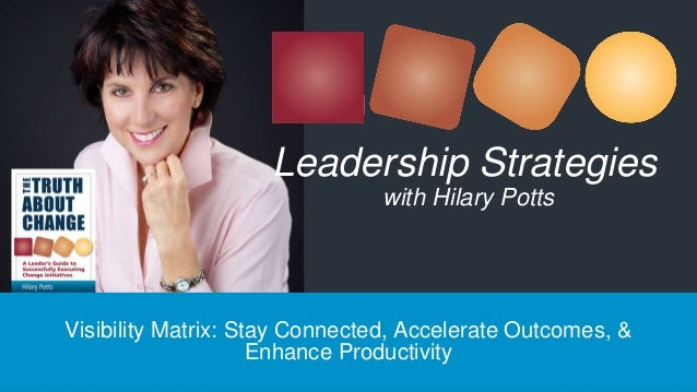 Visibility Matrix: Stay Connected, Accelerate Outcomes, & Enhance Productivity Leadership Strategies with Hilary Potts