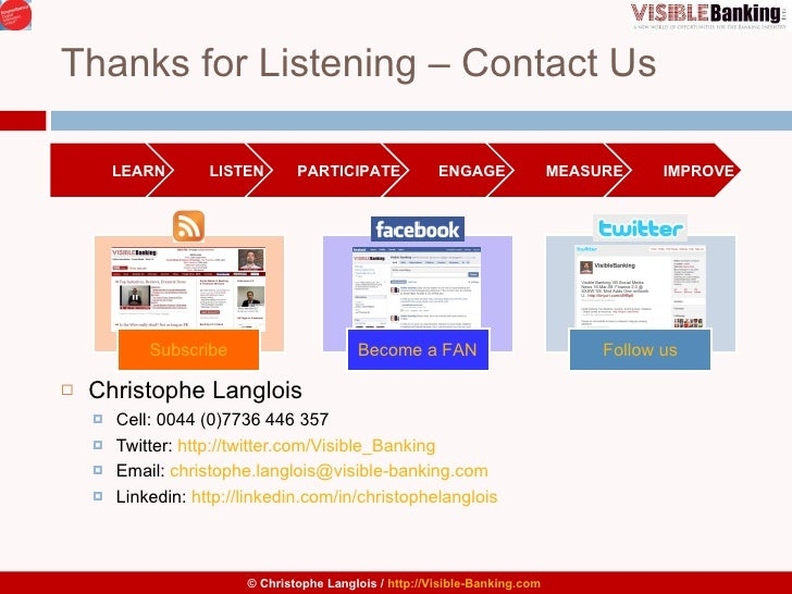 Thanks for Listening – Contact Us <ul><li>I </li></ul><ul><li>Christophe Langlois </li></ul><ul><ul><li>Cell: 0044 (0)7736...