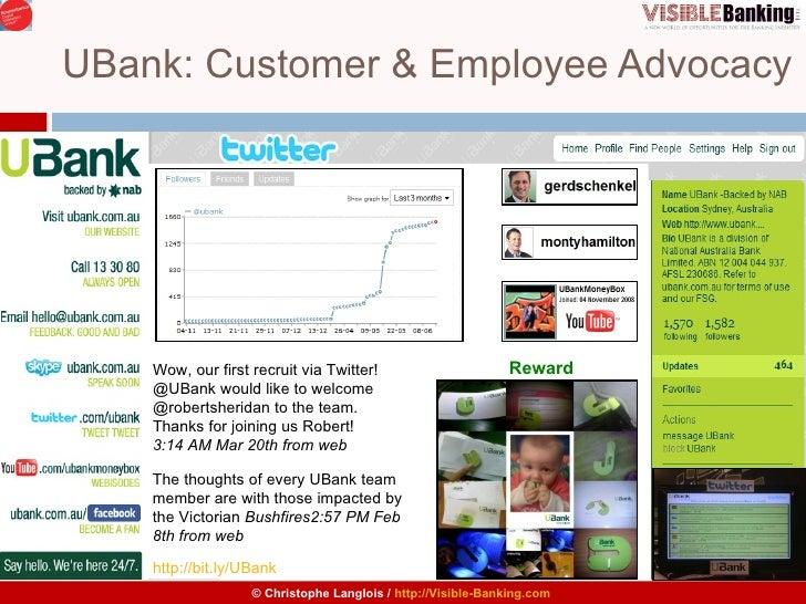 UBank: Customer & Employee Advocacy Wow, our first recruit via Twitter! @UBank would like to welcome @robertsheridan to th...