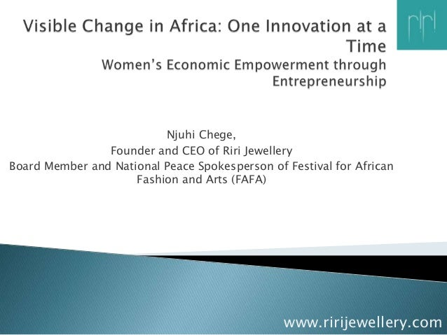 Njuhi Chege,                Founder and CEO of Riri JewelleryBoard Member and National Peace Spokesperson of Festival for ...