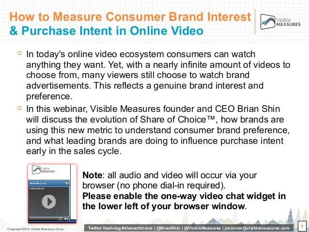 Copyright 2010, Visible Measures Corp. Twitter hash-tag #shareofchoice | @BrianShin | @VisibleMeasures | joconnor@visiblem...