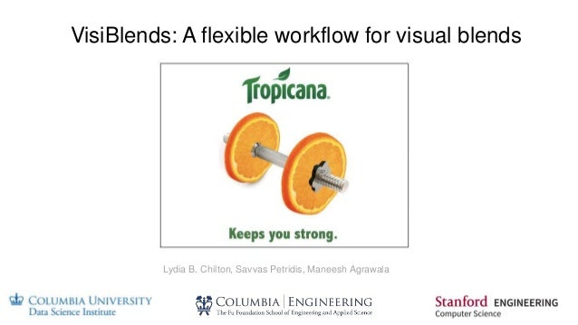 VisiBlends: A flexible workflow for visual blends Lydia B. Chilton, Savvas Petridis, Maneesh Agrawala