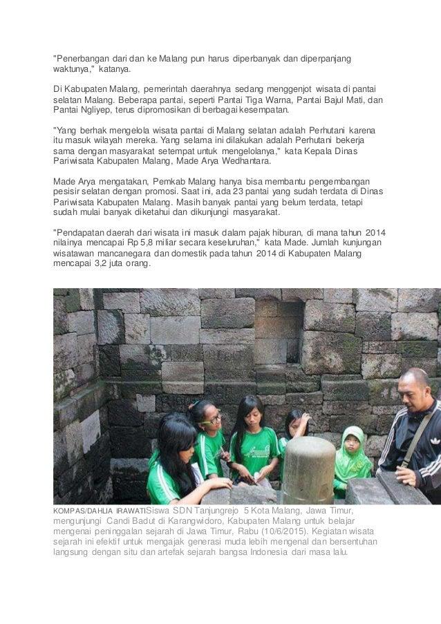 """""""Penerbangan dari dan ke Malang pun harus diperbanyak dan diperpanjang waktunya,"""" katanya. Di Kabupaten Malang, pemerintah..."""