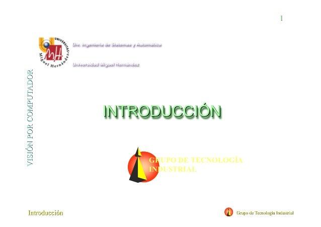Div. Ingeniería de Sistemas y Automática Universidad Miguel Hernández GRUPO DE TECNOLOGÍA INDUSTRIAL