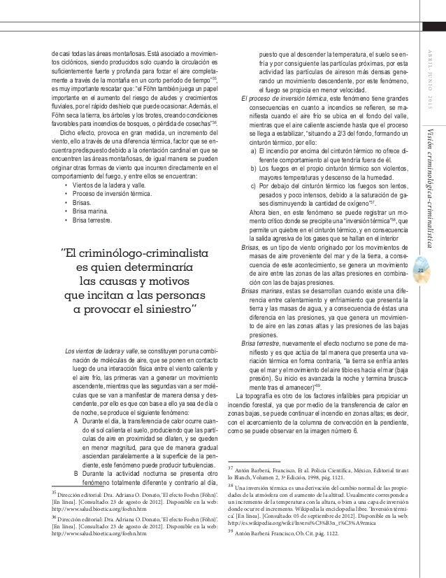 23 ABRIL-JUNIO2015Visióncriminológica-criminalística Tipos de incendios forestales Es fundamental conocer los diversos tip...