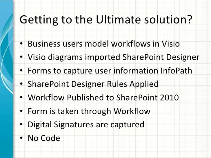 visio 2010 sharepoint workflows with demo steps