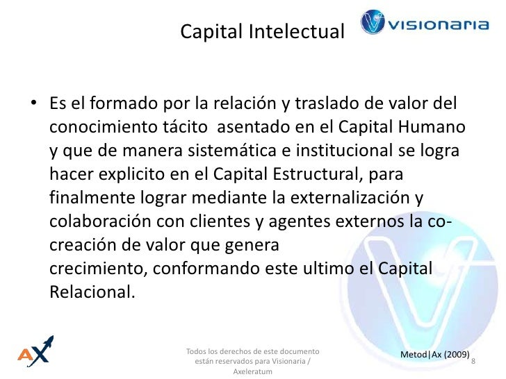 Capital Intelectual<br />Es el formado por la relación y traslado de valor del conocimiento tácito  asentado en el Capital...