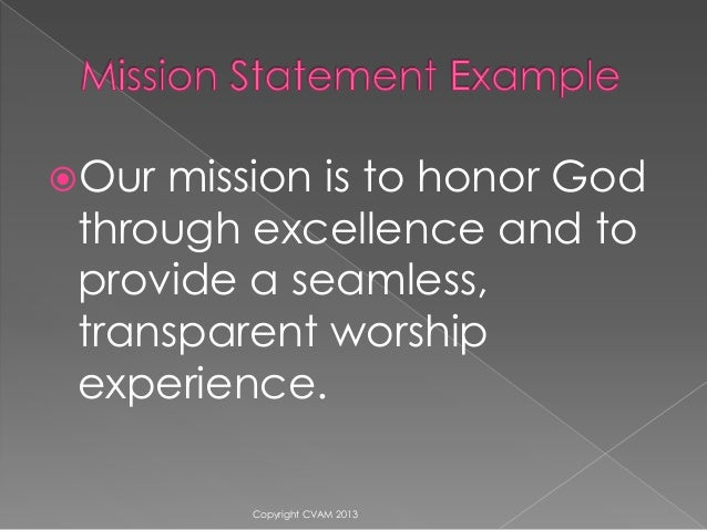 Vision And Mission For Your Church