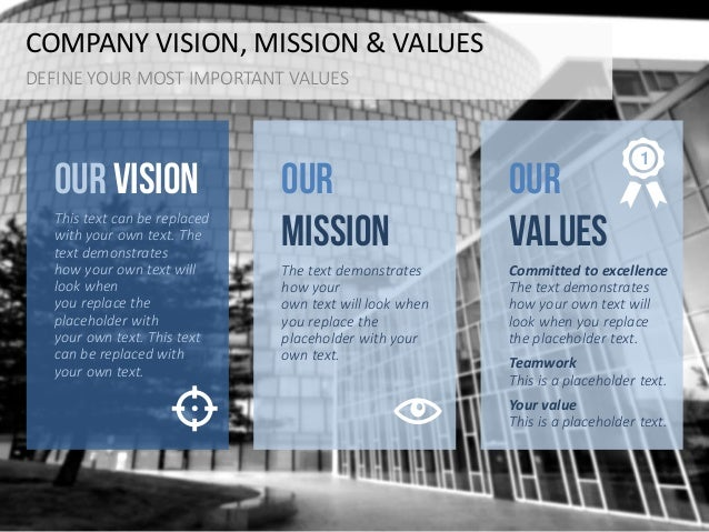 our mission and vision statement