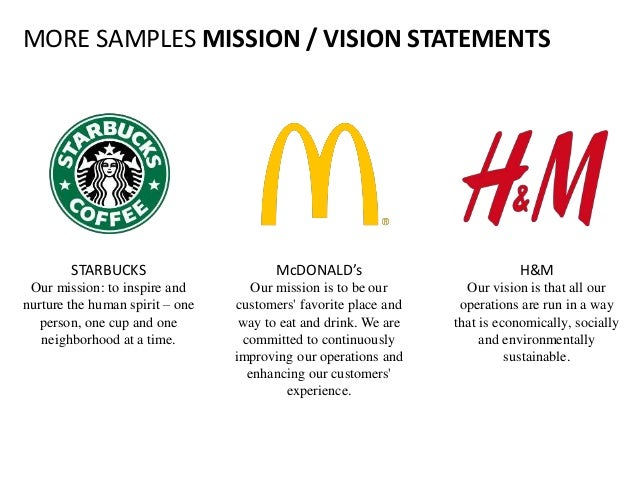 vision and mission statements Personal mission statements are a great new year's resolution equally important, and longer-lasting, is your company's mission statement first, let's be clear it's not the same as your.