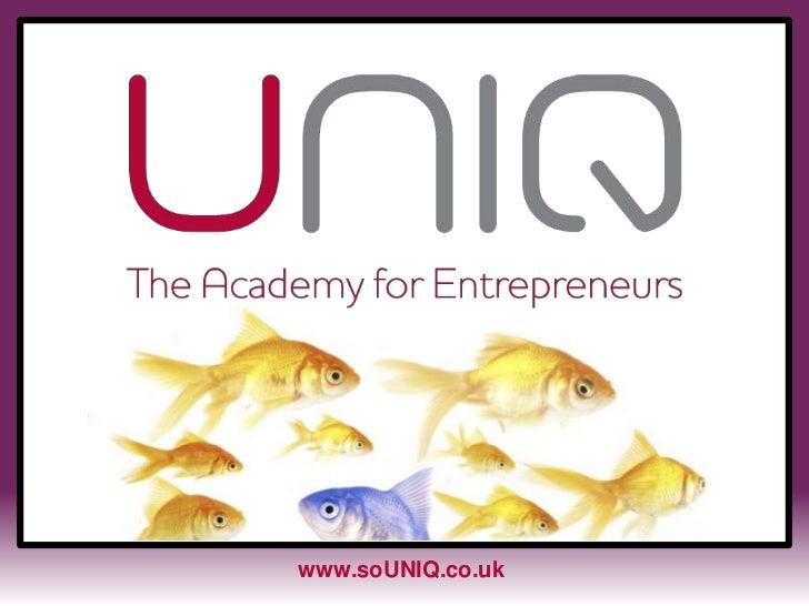 www.soUNIQ.co.uk<br />