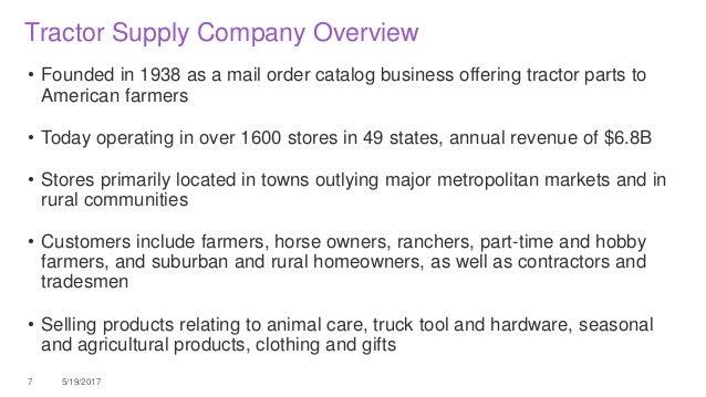 Tsc Tractor Supply Catalog : Leveraging ibm cognos tm for merchandise planning at