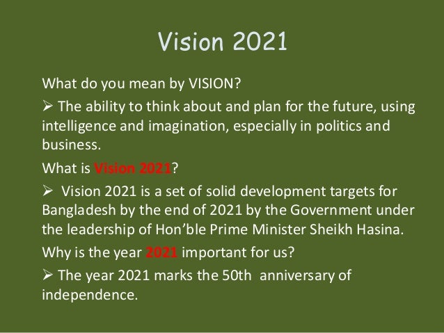 vision 2021 Vision 2021  home about us vision what we hope and pray that we can say in 2021: we are a grounded reformed christian witness in south holland we are committed to the spiritual well-being of this village and the south suburbs we love the lord, each other, and our community.