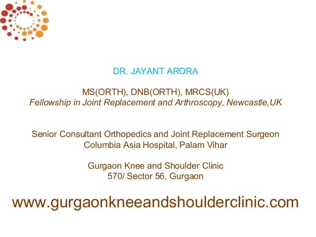 Custom Fit or Patient Specific Knee Replacement Surgery in Gurgaon by Dr Jayant Arora. Slide 2