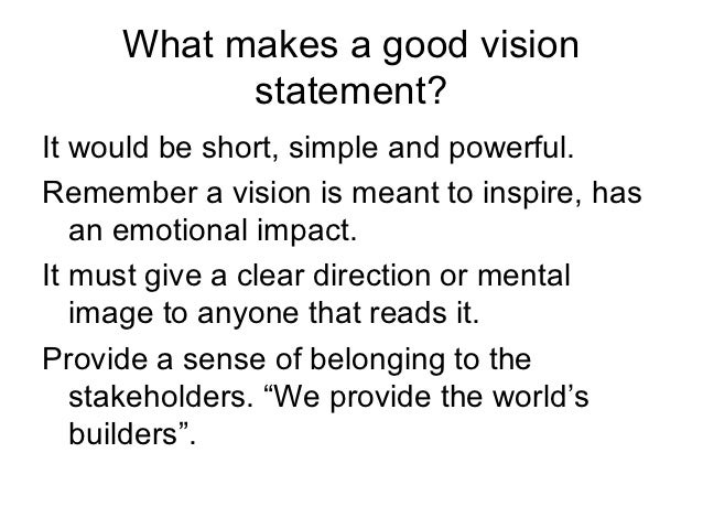 great vision statements