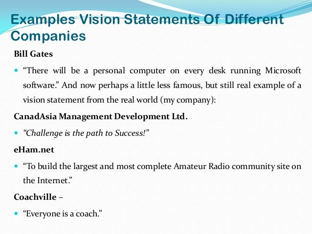 Vision statement examples alisen berde for Vision statement template free